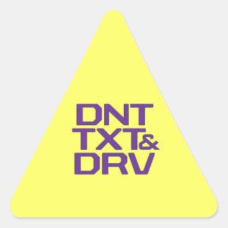 DNT TXT & DRV TRIANGLE STICKER