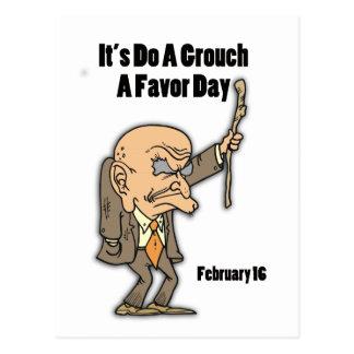 Do a Grouch A Favor Day February 16 Postcard