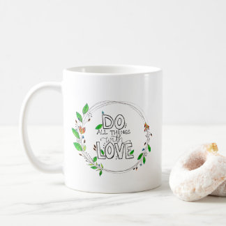 Do All Things with Love - Botanical Wreath | Mug
