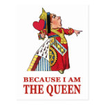 DO AS I SAY,  BECAUSE I AM THE QUEEN POSTCARD