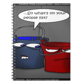 Do Buckets Have A People List? Funny Gifts & Tees Notebook