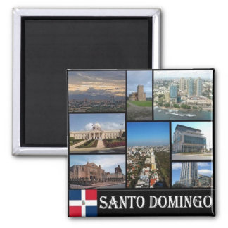 DO - Dominican Republic - Santo Domingo - Collage Square Magnet