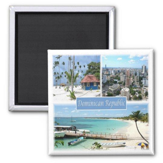 DO * Dominican Republic Square Magnet