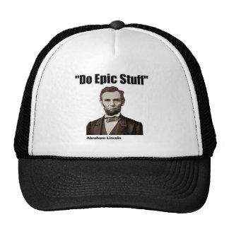 Do Epic Stuff Abraham Lincoln Cap