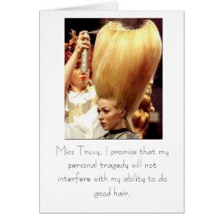 Do good hair greeting card