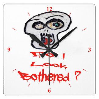 Do I look Bothered? Wall Clock