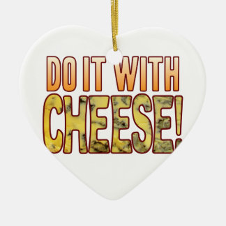 Do It Blue Cheese Ceramic Heart Decoration