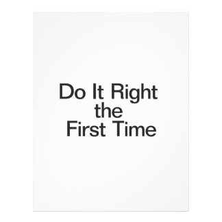 Do It Right the First Time Custom Flyer