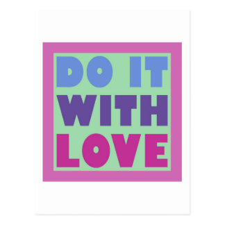 Do It With Love Postcard