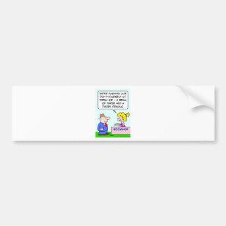 do it yourself bookshop paper pencils bumper sticker