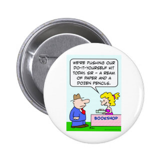 do it yourself bookshop paper pencils buttons