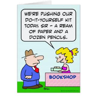 do it yourself bookshop paper pencils card