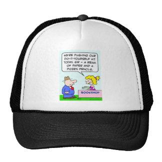 do it yourself bookshop paper pencils hats