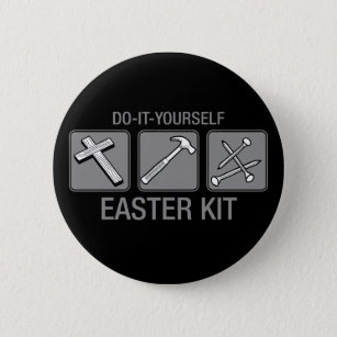 Custom do it yourself badges pins zazzle do it yourself easter kit 6 cm round badge solutioingenieria Image collections