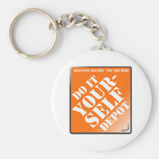 Do It Yourself Basic Round Button Key Ring