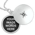 "DO IT YOURSELF ~Med 1"" Sterling Silver Round Locke Custom Jewelry"
