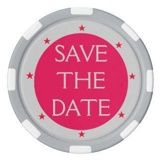 Do It Yourself ~ Save the Date Poker Chips Stars