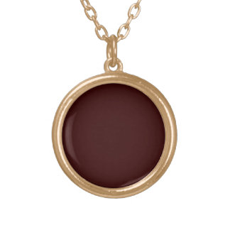 """DO IT YOURSELF ~ Small .75"""" Gold  Finish Circle Round Pendant Necklace"""