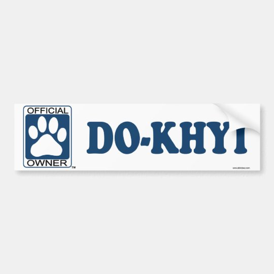Do-Khyi Blue Bumper Sticker