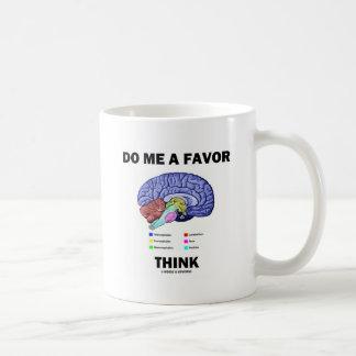 Do Me A Favor Think Brain Anatomy Humor Coffee Mug