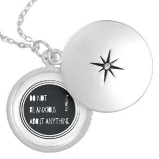 """""""Do Not Be Anxious"""" Philippians Bible Verse Silver Plated Necklace"""