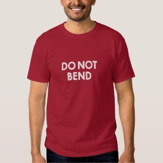 Do Not Bend Postal Motivational Slogan shirt (dark