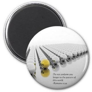 Do Not Conform 6 Cm Round Magnet