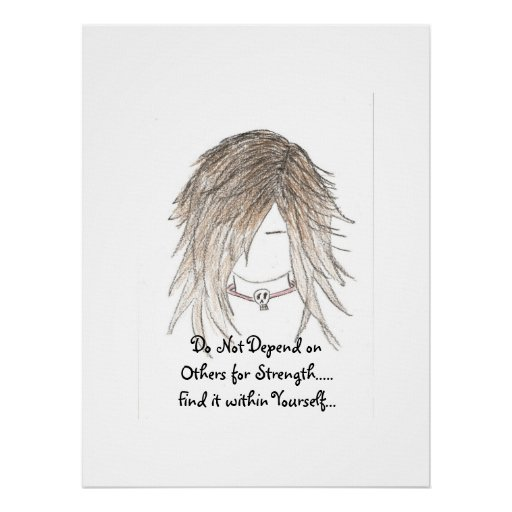 Do Not Depend on Others for Strength.. Canvas Poster