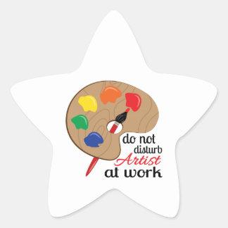 do not distrub Artist at work Star Sticker