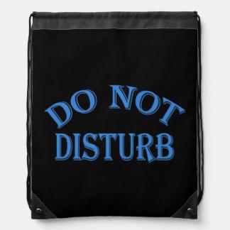 Do Not Disturb - Black Background Drawstring Backpack