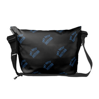 Do Not Disturb - Black Background Courier Bag