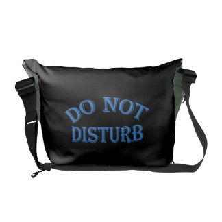 Do Not Disturb - Black Background Courier Bags