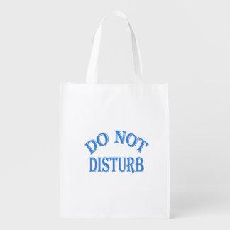 Do Not Disturb (Blue Text) Reusable Grocery Bag