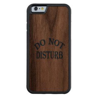 Do Not Disturb (Blue Text) Walnut iPhone 6 Bumper