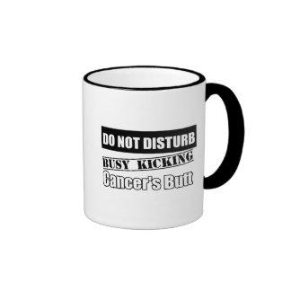Do Not Disturb Busy Kicking Skin Cancer's Butt Ringer Coffee Mug