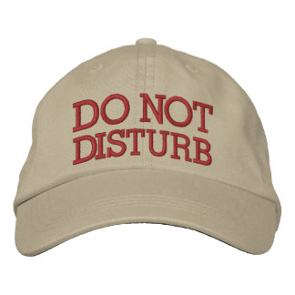 Do Not Disturb by SRF Embroidered Hats