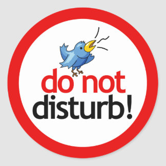 Do not disturb classic round sticker