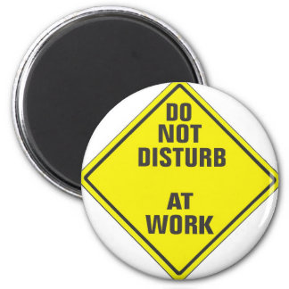 DO NOT DISTURB CUSTOM PRO SIGN FOR ANYONE 6 CM ROUND MAGNET