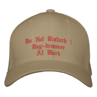 Do Not Disturb ! Day-dreamer At Work Embroidered Cap