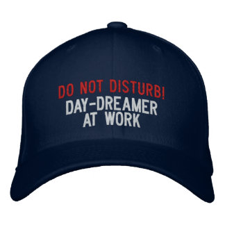 Do not Disturb! Day-dreamer At Work Embroidered Hat
