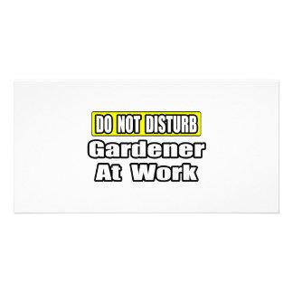 Do Not Disturb...Gardener At Work Photo Greeting Card