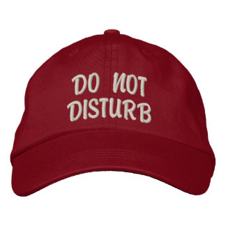'Do Not Disturb' Gym Hat Embroidered Hats
