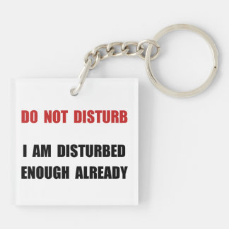 Do Not Disturb Key Ring