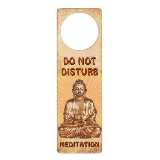 Do not disturb Meditation Door Hangers