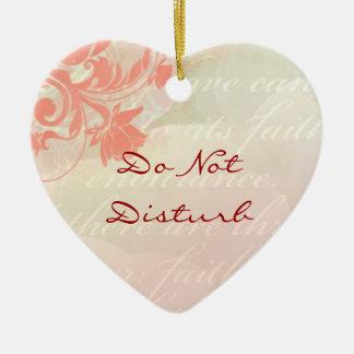 Do Not Disturb Romantic Door Hanger Christmas Ornament