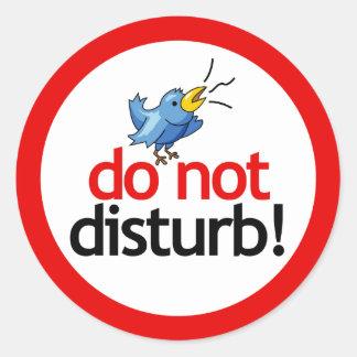 Do not disturb round sticker