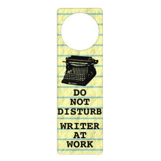 Do Not Disturb Writer at Work Antique Typewriter Door Hanger