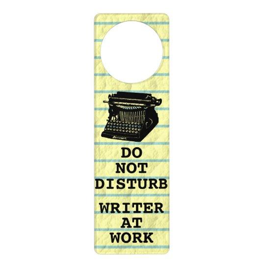 Do Not Disturb Writer at Work Antique Typewriter