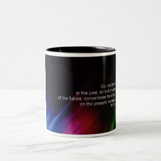 do-not-dwell-in-the-past Two-Tone coffee mug