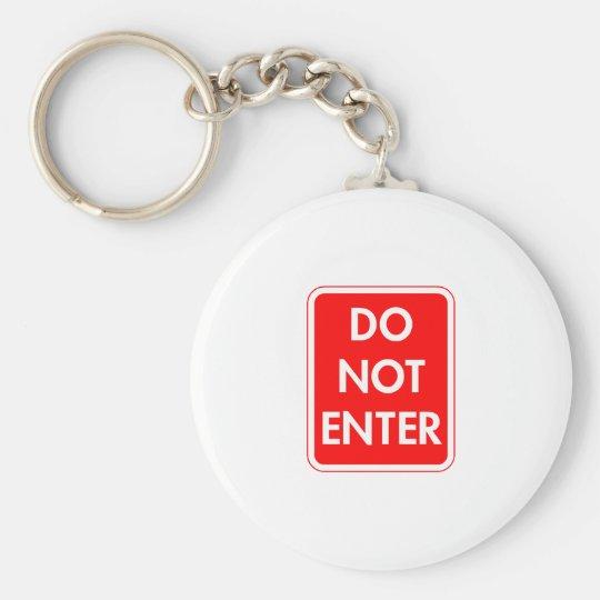 Do Not Enter Basic Round Button Key Ring